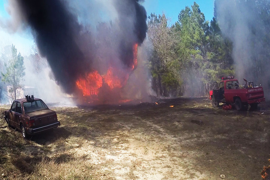 Woman suffers serious injury at grass fire
